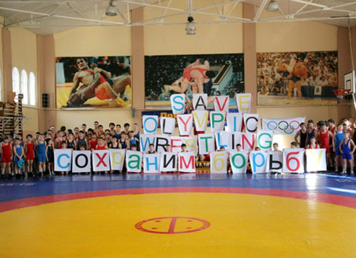 The Kaliningrad wrestlers held an action for wrestling preservation in the Olympic Games-2020 program