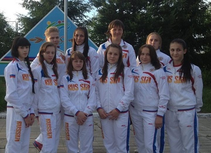 Russian national team on female wrestling