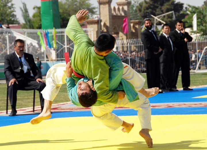 Узбекская борьба Кураш по ферганским правилам