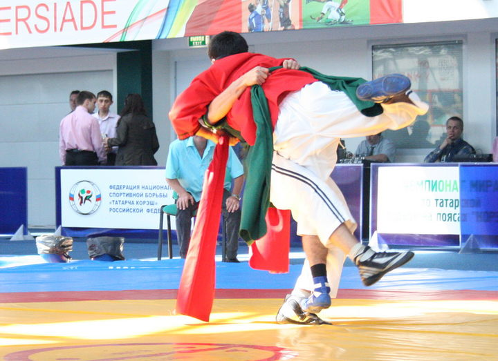 In Penza the Tatar wrestlers took under a roof