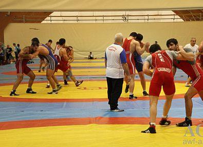 Борцы ведут подготовку к чемпионату мира