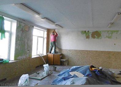 Ремонт борцовского зала завершается в школе села Красненькое