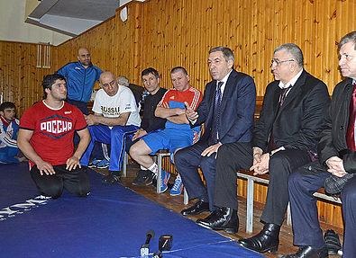 Высокие гости напутствовали сборную Дагестана