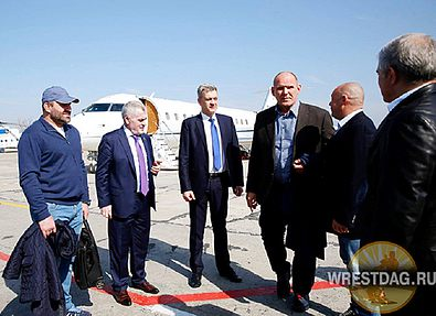 Делегация ФСБР с Сан Санычем прибыла в Дагестан