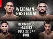 РЕЗУЛЬТАТЫ И БОНУСЫ UFC ON FOX: WEIDMAN VS. GASTELUM