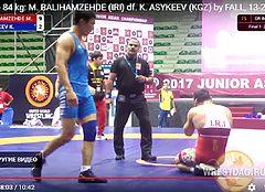 Борец из Кыргызстана отправил в нокдаун соперника из Ирана